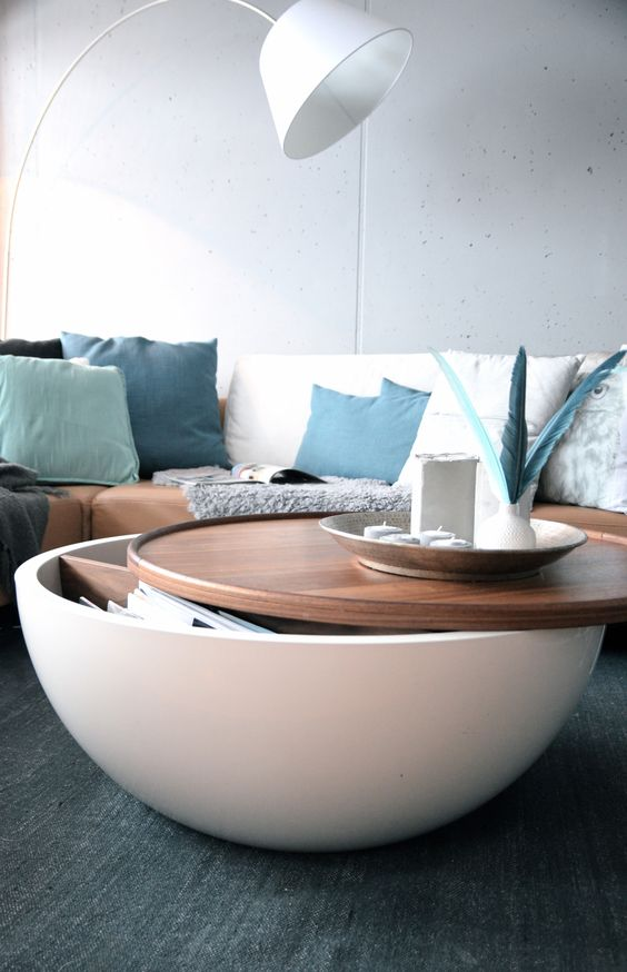Unique coffee table with amazing storage options for your modern space